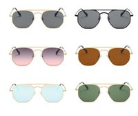 mens sunglasses designer hexagonal double bridge fashion UV glass lenses withs leather case, and all retail packages with box 3609