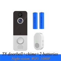 Newest T8 WiFi Visual Camera 1080P Doorbell Intercom Night Vision Wireless Home Security Monitor Cloud Storage with Chime Battery