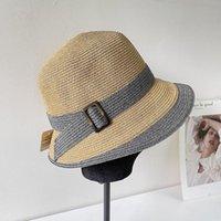 Wide Brim Hats Spring Summer Custom Style Fine Straw Fisherman Bucket For Women Female Basin Cap Beach Hat Sombrero Playa Mujer