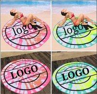Округлые песчаные пляжные полотенца многофункциональное полотенце 150 * 150см микрофибры имеют логотип