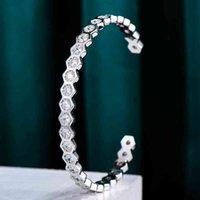 Marca de lujo de moda apilable chispeable brazalete para mujeres boda brincos para bridales para como mulheres 2021 pulsera de alta calidad