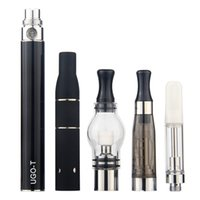 MOQ 1Pcs Authentic 4 in 1 Kit eGo Vape Pen Batery with 4Pcs Vaporizer Oil Wax Dry Herb Vapes 1100 900 650mAh UGO T 510 Thread Battery