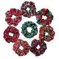 Christmas Girls Hair Accessories Tie Kids Hairbands Bands Headbands Childrens Scrunchies Autumn Winter Ring Headdress B8503