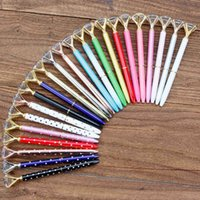 أقلام حبر جاف كبيرة الماس القلم الراين كريستال معدن حبر أسود للمدرسة مكتب 23 ألوان NNPB