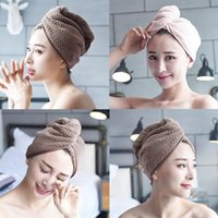 Microfibre After Shower Hair Drying Wrap Womens Girls Lady's Towel Soft Quick Dry Hat Cap Head Turban Bathing Tool Caps