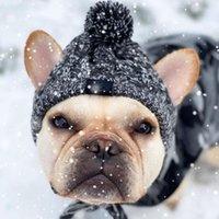 كلب الملابس الشتوية الدافئة قبعة الحيوانات الأليفة كاب windproof الصوف للكلاب الصغيرة المتوسطة الفرنسية