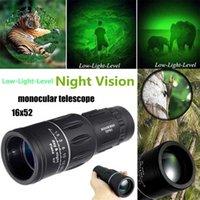 US de UK 16X Monocular 66m / 8000m Ampliação Dual Focus Zoom Len Telescópio de Armadura para Caça Camping