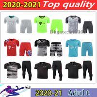 2021 SANE LEWANDOWSKI 3 4 pants football Short sleeve tracksuit del Chandal 20 21 COMAN GNABRY ALABA DAVIES MULLER bAyern Shorts training suit