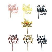 Лучшая мама когда-либо день рождения торт вставленная карта акриловый элегантный шрифт партии выпечки крона любовь украшения поставляет море KKC6194