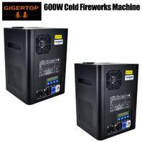Gigertop 2 Jednostki Wybłonowe 2-5m DMX 512 Fontanna Stage Maszyna do zimnej iskra Fajerwerki LCD Wyświetlacz Gniazdo