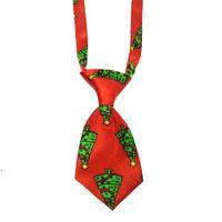 Christmas Pet Supplies Pet Dog Cat Xmas Neckties Bowties Santa Deer Dog Apparel Grooming Accessories Small-Middle Ties DWE8607