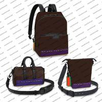 M57965 Discovery Homens Mochila Designer Bag Criser Messenger Canvas Genuine Couro de Couro 3d Colorido Látex Satchel Bolsa de Bolsa XS Bolsa Crossbody