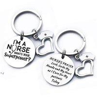 Newstainless enfermeiros de aço chaveiros pingente eu sou uma enfermeira chaveiro decoração de bagagem chaveiro chaveiro presente estudante gwa9359