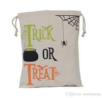 Christmas Decorations Halloween Sacks Canvas Cotton Drawstring Personalized Print Children christmas Candy Gifts Party Pumpkin Bag Sale{category}