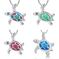 2020 Newest Factory Directly Sell Best Christmas Holiday Fashion Alloy Opal Necklace For Woman Turtle Necklace