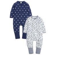 Jumpsuits 2PCS Lot Baby Rompers Clothes Born Infant Long Sleeve Cotton Boy High Quality Jumpsuit 0-24M Body Suit