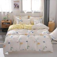 Подвесные комплекты Сельской местности стиль мыть из хлопчатобумажной одеяла крышка подушка кровати кровать простыня мягкая дышащая одноместный двойной король король Установка океании