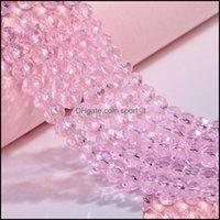 Jewelrym Glass Loose Beads Round Wheel Flat Bead Style Approx 140Pcs Per String Model No. Ne1154-1 Drop Delivery 2021 Xz3Ju