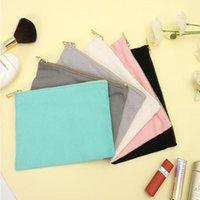 12oz DHL50PCS Toile cosmétique Métal vierge avec sac en or taille = 22 * 15cm maquillage sacs de coton zedxn