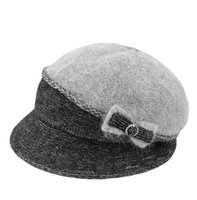 Women's new 2021 winter thickened bow splicing basin hat