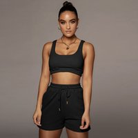 Designer Summer Women Tracksuits 2 Piece Set Shorts Outfits Solid Color Casual Womens Clothing Sexy Suspenders Tops Suit Plus Size
