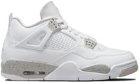 Avec Box 2021 Mens Basketball Chaussures Sneakers 4S Blanc Oreo Gris pour hommes Sports Chaussure Taille US7-12