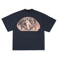 [Streetwear di alta qualità] Tee Kanye West Gesù è re circondendo la Trio Religion Fog High Street T-shirt a maniche corte T-shirt CPFM Trend