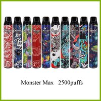 Monster Max 2500 puffs electronic cigarette disposable pen with fashion design and big capacity