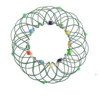 Fidget Magic Mandala Flower Cesta Juguetes Múltiples Cambios Cambios Anillo de flujo Hecho A Mano Handma Azul Lecho Niños Adulto Estrés Relevante Funfwd6306