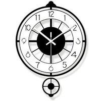 Wall Clocks Modern Design Clock Living Room Guess Women Pow Home Quartz Silent Relogio Parede Digital Mechanism 50Q295
