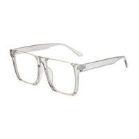 خمر ساحة نصف معدنية النساء النظارات الشمسية إطار واضح عدسة بصري نظارات نظارات مكافحة أزرق ضوء نظارات مع شعار