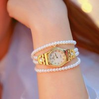 Wristwatches Women Watches Montre Top Brand Pearl Multi-Layer Bracelet Dress Ladies Wristwatch Relogios Femininos Saat