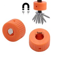 Professional Hand Tool Sets 10Pcs 7mm Orange Mini Round Magnetic Ring Pick Up Used For Magnetizer Screwdriver Bits