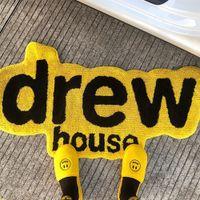 소프트 트렌디 한 derw 하우스 웃는 카펫 원형 독창성 욕실 문 매트 흡수 바닥 매트 거실 깔개