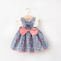 Girl's Dresses Princess Toddler Born Baby Girls Dress Flower Lace Bow Tutu Party Wedding Birthday For Summer Cotton Kids Clothes