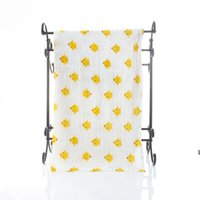 Baby Muslin Toalla de baño Mantas infantiles 2 capas 100% algodón toallas neonatal niño animal impreso absorber manta swaddle hwb7128