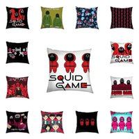 16 Colors The Squid Game Pillow Case Home Sofa Car Throw Pillows Cushion Covers Cartoon Print TikTok Trendy Party Ornament Linen Pillowcases Comic Related G1111AH0