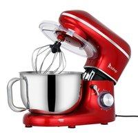 Miscelatori alimentari Chef Machine 5.5L 660W Mishing Pot con manico Vernice spray rossa