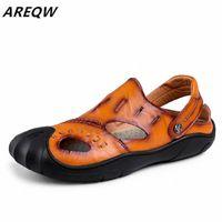 Areqw новая мода мужская натуральная кожаная обувь мужские кружевы Oxford квартиры летние удобные ручной работы мокасины мужская обувь сандалии белые туфли серебряные Sanda f2xm #