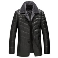 Men's Leather & Faux Autumn And Winter Haining Clothes Wool Collar Sheep Lapel Coat