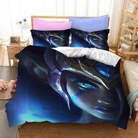 Sängkläder Set League of Set Australia / Europe / USA Full Queen King Size Legends Quilt Duvet Cover Pillow Case 2-3 stycken