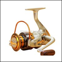 BaitCasting Reels Sports Outdoors Series Metal lejano Reel Spinning 5.5: 1 12 Bolas de rodamiento Rueda Gire la bobina de la pesca del carrete DROP DELIV