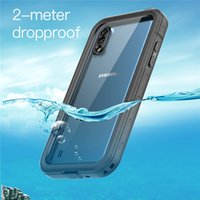 IP68 Waterproof Clear Phone Cover for Samsung A01 Sports Outdoor Swimming Snowproof Dropproof 360 Full Protective Transparent Hybrid Armor Case with Lanyard Strap