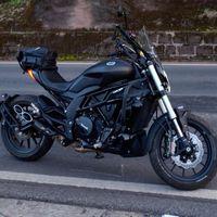 Moto Plein System Echappement Mid Link Moto Moto Marquage du laser pour Benelli Carbon Fibre Muffler 502C