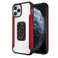 The new ring buckle anti falling bracket protective cover is suitable for Samsung note20 iPhone 12 magnetic suction mobile phone case