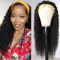 Кудрявые повязки парики синтетические странные вьющиеся 12-20 дюймов машина изготовлена ни одного кружева передние парики для черных женщин, несмотря на глубокое вьющиеся вьющиеся фритфиозные