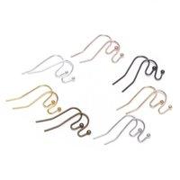 100 pz / lotto 21 * 16mm oro Orecchini in bronzo Ganci per orecchini orecchini orecchini orecchini per gioielli Fare fai da te forniture per earwire 1170 q2
