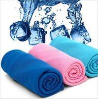 Волшебное ледяное полотенце 90 * 30 см Многофункциональное охлаждение летние холодные спорты полотенца прохладный шарф ремень взрослых ванна для ванны XHCFYZ136