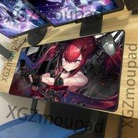 Mouse Pads & Wrist Rests XGZ Custom Red Hair Loli Gunner Big Game Pad Black Lock Edge Girl Frontline Manga PC Notebook Table Mat Non-slip Ca