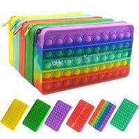Pencil Case Box Bag Pen Organizer Assorted Color for Organize School Rainbow Pens Boxes Pencils Cases Stationery Carry